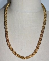 "VTG MONET Gold Tone Coil Choker Necklace  5/16 inch wide 23.5"" in length - $39.60"