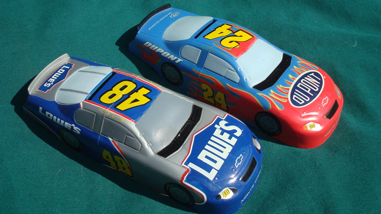 Two NASCAR Cars - 24 and 48