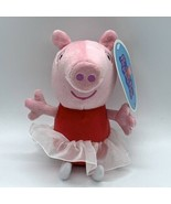 "Peppa Pig Ballerina 7"" Plush W/Sound W/ Tag - $10.40"