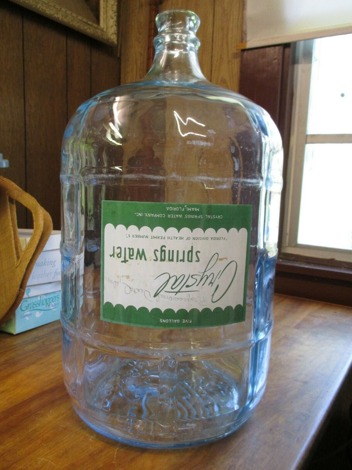 Primary image for Vintage 5 Gallon CRISA Clear Glass CRYSTAL SPRINGS Water Bottle Made in Mexico