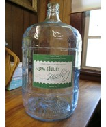 Vintage 5 Gallon CRISA Clear Glass CRYSTAL SPRINGS Water Bottle Made in ... - $123.75