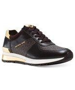 Michael Kors MK Women's Allie Trainer Leather Sneakers Shoes Brown - $119.98