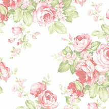Grand Floral Wallpaper Pink, Green Norwall Wallcovering AB27612 - $34.99