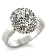 1 Carat Premium Russian Oval CZ Surround w/ rou... - $29.99