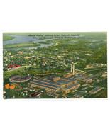 Illinois Central Railroad Shops Paducah Kentucky linen postcard - $6.44