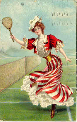 Tennis Anyone  Beautiful Women 1913 post card