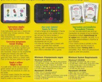 Thinking Skills Educational CD Workbook Homeschool 3 to 5 Bilingual