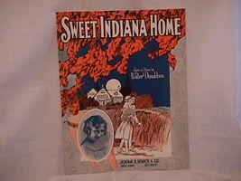 Sweet Indiana Home Remick Company Vintage 1922 Sheet Music - $7.00