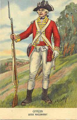 20th Regiment Officer Post Card