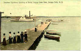 Cayuga Lake Park Seneca Falls New York 1912 Post Card - $6.00