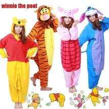 Unisex Adult Costume Fancy Party Pajamas Cosplay Animal Winnie The Pooh ... - $28.99