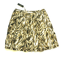 NWT TALBOTS Zebra Skirt Women's 16 P Petite A-Line Black Ivory Cotton Lined - $9.99