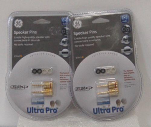 GE 87643 Speaker Pins Ultra Pro 2 Pack Set Centerpin Technology
