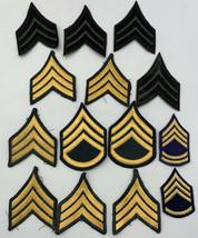 US Army Sergeant Patch Platoon Stripes Vintage Original Lot Of 14 20-2279I - $33.20