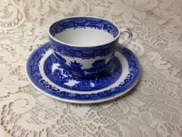 Antique, Rare, Ridgway Blue Willow 2pc Cup and Breadplate - $28.45