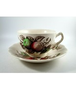 Vintage Johnson Brothers Harvest Time Tea Cup and Saucer Red & Green Apples - $5.94