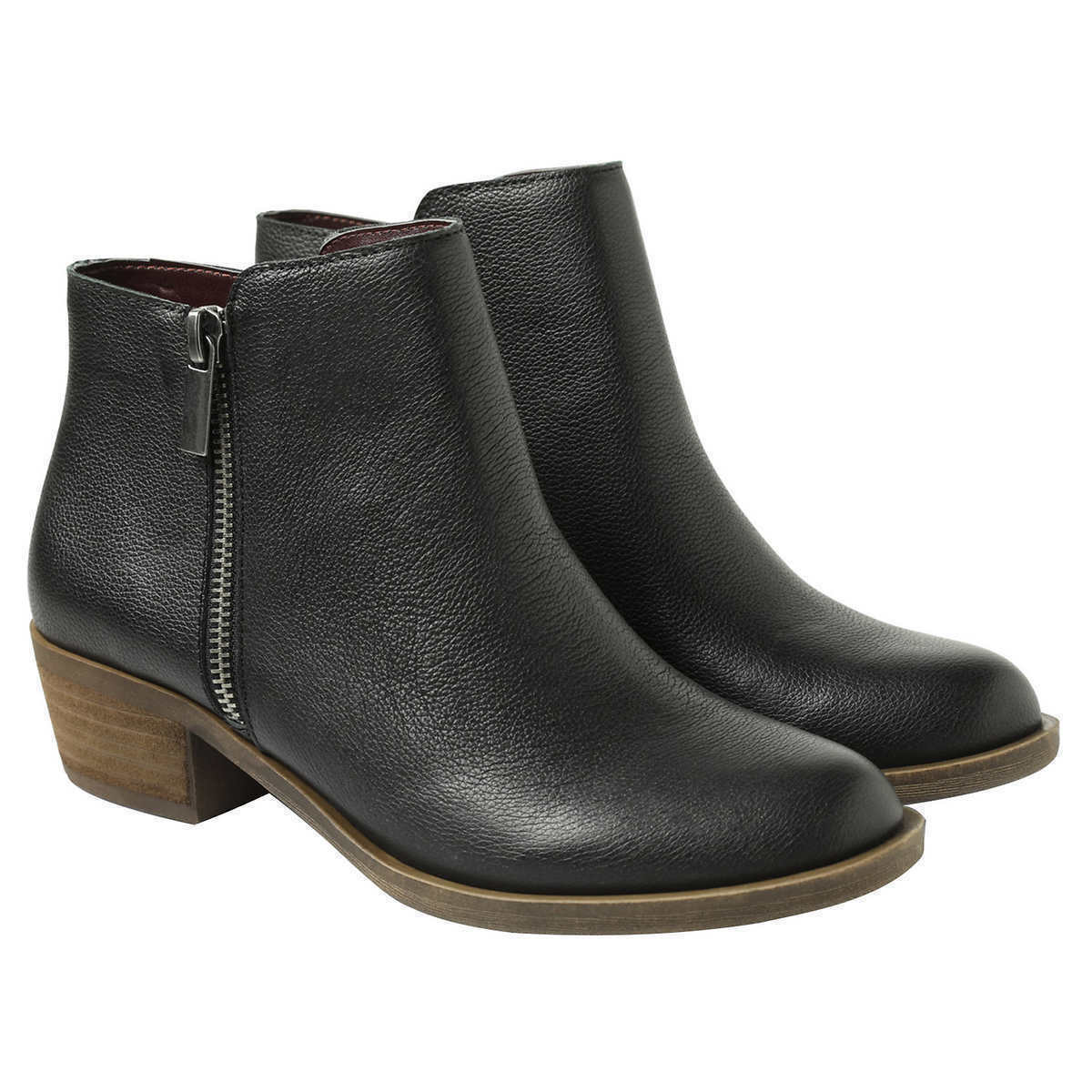 New Kensie Women's Black Leather Ghita Short Ankle Boots 6.5 9.5 7.5 8.5 10 NWOB