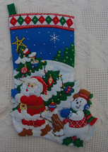 """FINISHED! Bucilla """"Pick A Tree"""" COMPLETED Felt Stocking - Kit #86440 - $137.99"""