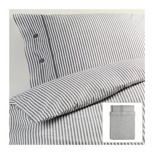 Ikea Nyponros Duvet Cover and Pillowcases, Full/queen, Gray for sale  USA