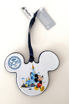 Walt Disney World 2019 Ceramic Minnie Mickey Mouse Icon Disc Ornament NEW - $29.90