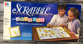 VINTAGE Complete 1989 Milton Bradley Scrabble For Juniors Board Game - $12.86