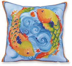 Diamond Dotz Dancing Fish Pillow 5D Diamond Painting Facet Art Kit - $27.95