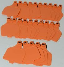 Destron Fearing DuFlex Visual ID Livestock Panel Tags Large Orange Blank 25 Sets image 4