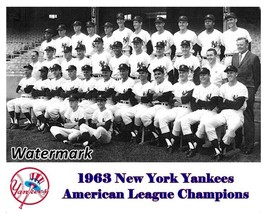 MLB 1963 American League Champion New York Yankees Team Picture 8 X 10 P... - $6.99