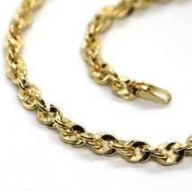 18K YELLOW GOLD ROPE CHAIN, 27.5 INCHES BRAIDED INFINITE FACETED ALTERNATE LINK image 2