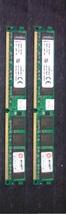 Kingston 2 pcs 2GB PC6400 DDR2-800MHz PC2-6400 240PIN  (2X1GB) - $17.63