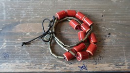 Nine West Vintage America Red Bead Stretch Bracelet - $11.88