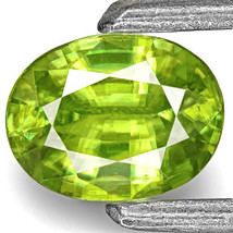 INDIA Sphene 0.38 Cts Natural Untreated Neon Green Oval - $143.00