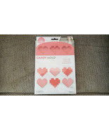 Heart Shaped Candy Mold Wilton  Nerdy Nummies Silicone Candy Mold Makes 12 - $9.89