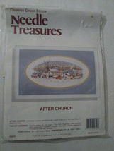 Needle Treasures After Church Counted Cross Stitch Kit New Sealed Kit - $29.99