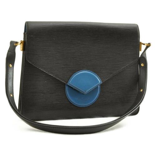 LOUIS VUITTON Epi Free Run Shoulder Bag Black Blue M52415 LV Auth 9735