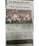 Washington Nationals World Series Champions Newspaper Washington Post 10... - $24.74