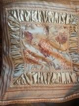 """CROSCILL Pr/2 Pillow Shams IMPERIAL/EMPRESS Roses Gold Tapestry 24"""" - $93.49"""