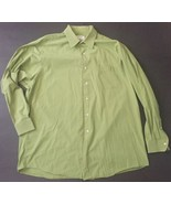 Brooks Brothers 346 Lime Green Button Down Dress Shirt 17 1/2 - 34/35 Top - $24.74