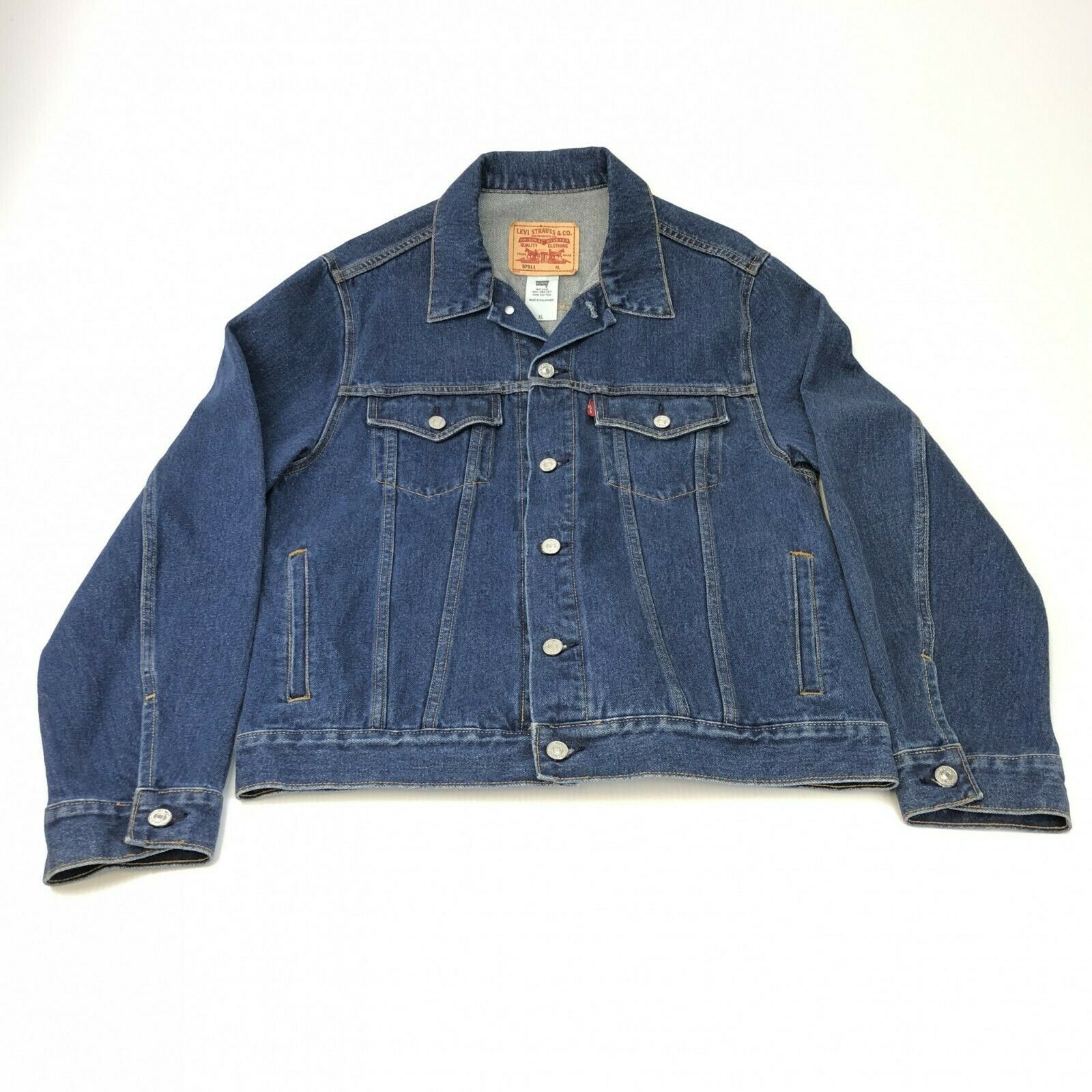 Primary image for Levis 57511 denim trucker jean jacket XL