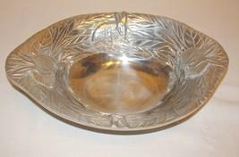 Metal Rabbit Bunny Oval Bowl Serving Bowl Dish - $29.39