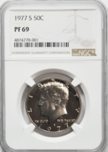 1977 S Clad 50c Kennedy Half Dollar NGC PF69 Gem Uncirculated  - $17.81