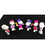 Vintage Lot 6 Peanuts doll Snoopy San valentine United Feature Syndicate. - $24.90