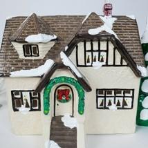Vintage 1986 Dept Department 56 Original Snow Village Stucco Bungalow Ch... - $59.38