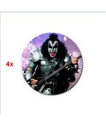 4x rubber drink Coasters for rockers kiss simmons bassist 4 x - $10.00