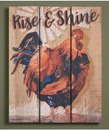 """Rise & Shine - Rooster 14"""" x 18"""" Pallet Art Sign by Caly Garris - $35.95"""
