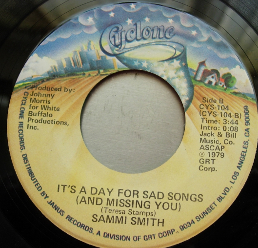 Sammi Smith - The Letter / It's A Day For Sad Songs - Cyclone Records CVS-104