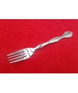 "Dinner Fork ~ Windswept by Walco Stainless Flatware Silverware 7 1/2"" - $7.91"