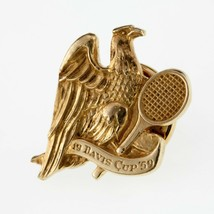 Tiffany & Co. 14k Yellow Gold Tie Tack Issued During 1959 Tennis Davis Cup - £1,417.68 GBP