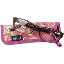Foster Grant Women's Carletta Reading Glasses, Purple +1.25 - $14.99