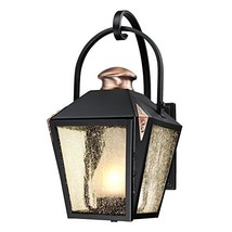 Westinghouse Lighting 6312300 Valley Forge One-Light Outdoor Wall Lantern, Matte - $120.18